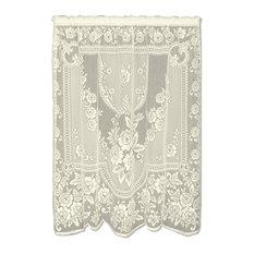 """Victorian Rose Panel, Ecru, 84"""""""