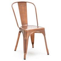 Dreux Steel Stackable Side Chair (Set of 4), Vintage Copper