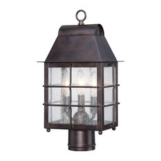 The Great Outdoors 73096-189 3 Light Post Light from the Willow Pointe Collecti