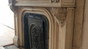Vintage Marble Fireplace Restoration Mass Ave Boston