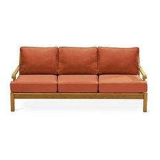 Sack Large Lounge Sofa With Spectrum Sand Sunbrella Fabric Cushion