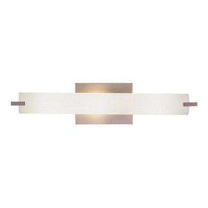 George Kovacs Tube 3-Light Wall Lamp P5044-084, Brushed Nickel