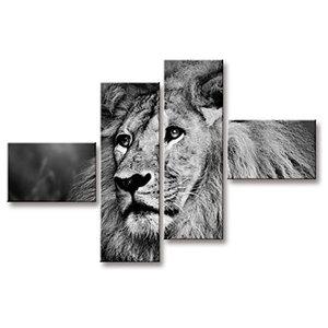 Lion 4-Piece Modern Canvas, 160x100 cm