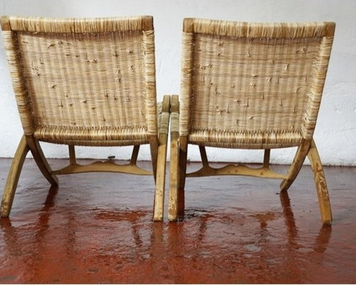 Superb Teak And Cane Easy Chair   Outdoor Folding Chairs