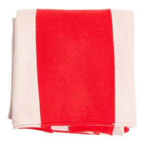 Handmade Large Merino Striped Blanket by Shepherd England 2