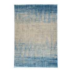 "Addison Plano Bohemian Crosshatch Area Rug, Blue, 9'6""x13'2"""