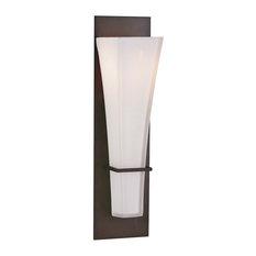 feiss monte carlo 1 light oil rubbed bronze wallbath light