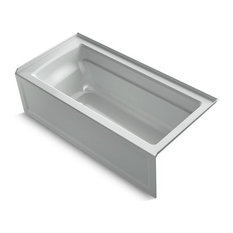"Kohler Archer 66""x32"" 3-Side Integral Flange Bath, Ice Gray"