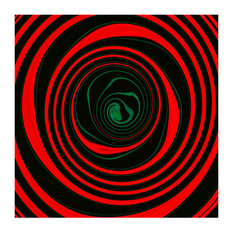 Tunnel Vision Abstract Wall Art Print, 60x42 cm