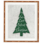 """Deny Designs - Monika Strigel Farmhouse Christmas Tree Green Framed Wall Art, 14x16.5"""" - Frame it up. The Deny framed art takes away all the hassle of finding the right frame for your art. The art is printed on a satin wood finish and comes exposed for a more artistic look. Sprinkle in different sizes and maybe an art canvas or two to help create a picture perfect gallery wall. And the best part? Every purchase pays the artist who designed itsupporting creativity worldwide."""