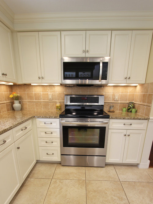 Refaced White Kitchen Cabinets ~ Hinckley, OH