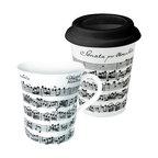 Vivaldi Libretto White to Stay/to Go Mugs, Set of 2