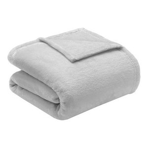Intelligent Design Solid Microlight Plush Brushed Blanket, Twin/Twin Xl