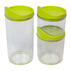 Harmonia 3-Piece Kitchen Canister Set, Green