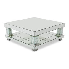 crystal coffee tables | houzz