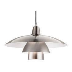 Olsen Pendant Light, Brushed Steel