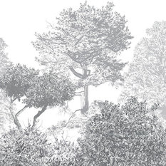 Sian Zeng - Hua Trees Mural, Gray - Wallpaper