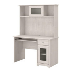 Modern Desk With Hutch, Open Shelves and Cabinets, Great for Space Saving, Linen