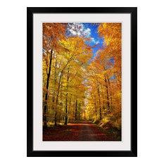 """Way To Fall"" Black Framed Art Print, 28""x38""x1"""