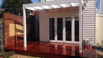 Decking & feature wall
