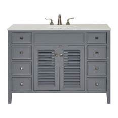 48-inch Single Bathroom Vanity Set Gray