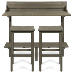 Farmhouse Outdoor Pub And Bistro Sets by GDFStudio