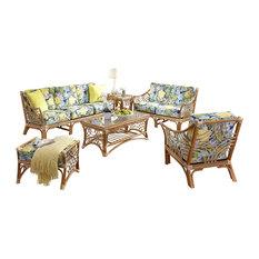 Bali 6-Piece Living Room Furniture Set Natural Bellecrest Fabric