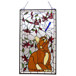 Craftsman Stained Glass Panels by CHLOE Lighting, Inc.