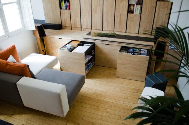 コンテンポラリー リビング by Martins Afonso atelier de design