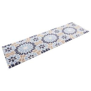 Teresa Floor Rug, Blue and Beige, 50x150 cm