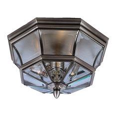 Newbury 3 Light Outdoor Ceiling Light in Pewter