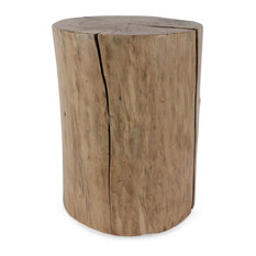 Pfeifer Studio   Pale Rider Cottonwood Stump Table   Side Tables And End  Tables