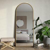 Nadia Modern Arch Floor Mirror