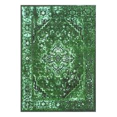 Machine Made Jizah Rug, Green, 8'x10'