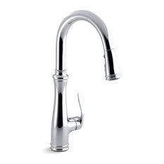 Kohler - Kohler Bellera Single-Hole or 3-Hole Kitchen Sink Faucet, Polished Chrome - Kitchen Faucets