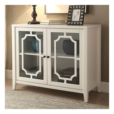 Acme Furniture - Acme Ceara Cabinet, White - Accent Chests and Cabinets