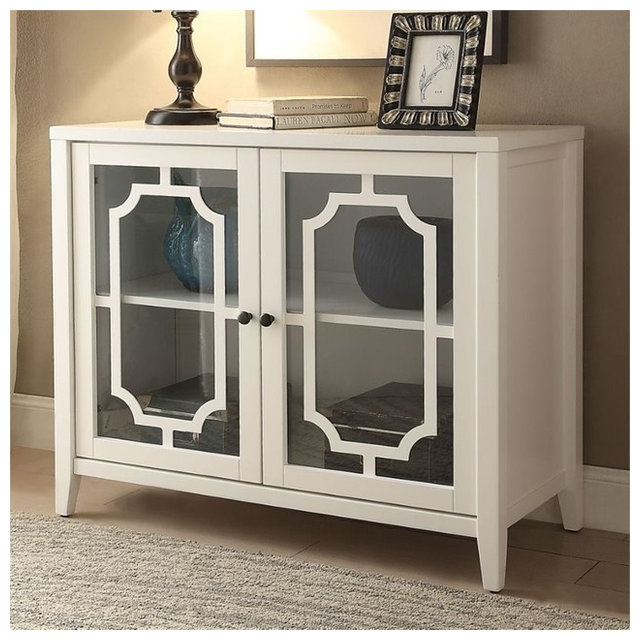 Acme Ceara Cabinet White Transitional Accent Chests