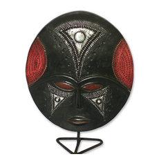 Wednesdays Girl Akan Wood Mask