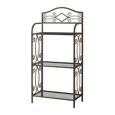 Dolly Metal 3-Tier Towel Rack, Pewter
