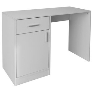 VidaXL Desk With Side Drawer and Cabinet, White