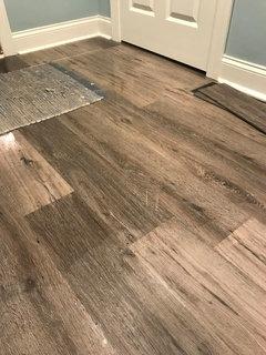 vinyl plank floors- moisture in basement