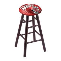 Wisconsin -inchBadger-inch Extra Tall Bar Stool Dark Cherry