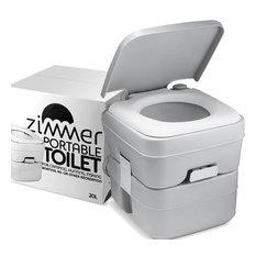Comfort Portable Toilet 5 Gallon Capacity, RV Toilet With Detachable Tanks,