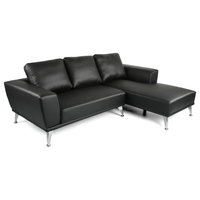 Ava Modern Fabric Chaise Sectional
