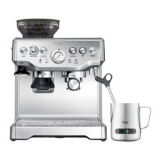 Barista Coffee Machine With Temperature Control Milk Jug, Stainless Steel