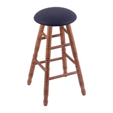 Holland Bar Stool Oak Round Cushion Extra Tall Bar Stool Turned Legs