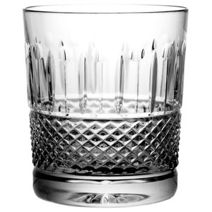 Diamond Pattern Lead Crystal Whisky Glasses, Set of 6
