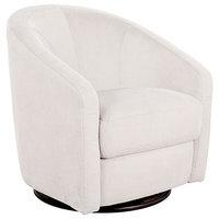 Upholstered Swivel Glider Chair Water-Resistant Stain-Resistant Microsuede Metal