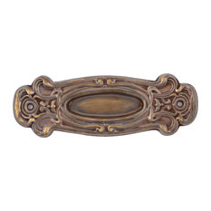 Avalon Window Lift, Small Pocket Door Handle, Hand Antiqued Brass