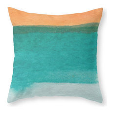 """Water and Color 11 Pillow Cover, 18""""x18"""" With Insert"""